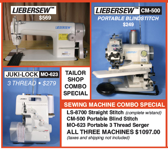 Tailor Shop Combo Special Liebersew 40 CM40 JukiLock MO40 Beauteous Serger And Sewing Machine Combo