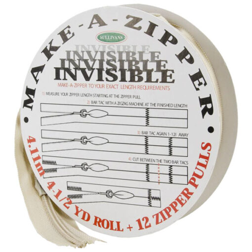 Sullivans USA Make-A-Zipper #2 Invisible 4-1/2 Yards